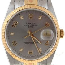 Rolex 1999 Rolex 18kt Yellow Gold And Steel Date