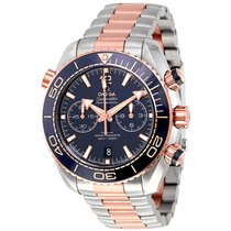 Omega Seamaster Planet Ocean Chronograph Sedna Gold Mens Watch...
