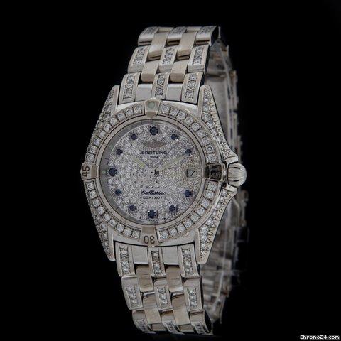 Breitling White Gold Diamond Callisto Boutique Watch J52345