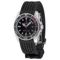 Tudor Hydronaut II Black Dial Black Rubber Ladies Watch