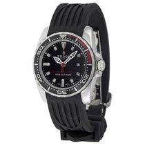 Tudor Hydronaut II Black Dial Black Rubber Ladies Watch