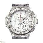 Hublot Big Bang 44mm St. Moritz Stainless Steel Diamonds White...