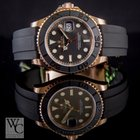 Rolex Yachtmaster Everose Gold 40mm Rubber Strap 116655