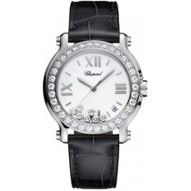 Chopard Ladies 278475-3037 Happy Sport Diamonds 36 mm Watch