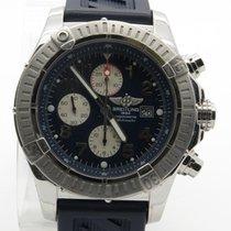 Breitling Super Avenger Chrono A13370 Blue Dial Automatic Mens...