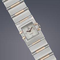 Omega Ladies Constellation Quadra steel&gold diamond quartz