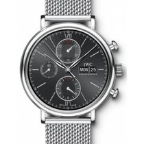 IWC Schaffhausen IW391010 Portofino Chronograph Black Index...
