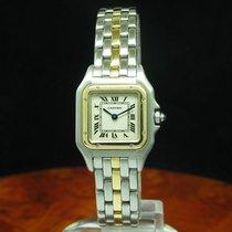 Cartier Panthere 18kt 750 Gold / Edelstahl Damenuhr / Ref...