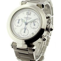 Cartier 2412 Pasha Chronograph in Steel - on Steel Bracelet...