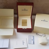 Eterna Vaughan Wooden Box, Stamped Papers, Manuals, Tags