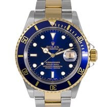 Rolex Submariner Steel & Gold Blue Dial (Gold in Clasp),...
