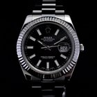 Rolex Datejust II 41mm White Gold Bezel White Stick Dial 116334