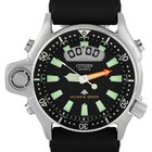 Citizen Promaster Aqualand Diver Watch Steel on Rubber Strap