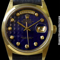 Rolex 18028 Day Date Smooth Bezel Lapis Lazuli Pyramid Dial
