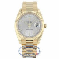 Rolex Day-Date President 40MM Yellow Gold Silver Motif