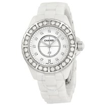 Chanel J12 Diamond Bezel White Ceramic Unisex Watch