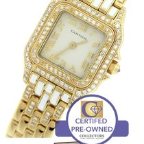 Cartier Panthère Diamond 18K Yellow Gold Quartz Swiss Watch...