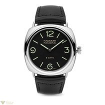 Panerai Radiomir 8 Days Black Dial Leather Stainless Steel...