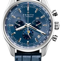 Zenith El Primero 410 Blue Dial Stainless Steel 42mm Watch...