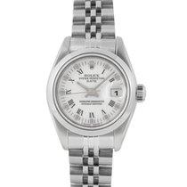 Rolex Ladies Date in Steel with Blue Pinstripe Dial, Ref: 69160