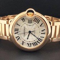 Cartier Ballon Bleu 36mm 18k Rose Gold Silver Roman Numeral...