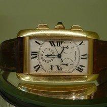 Cartier modern tank chronoflex ref 1730 quartz or jaune