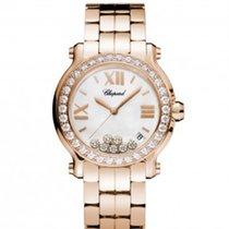Chopard 277481-5002Happy Sport 36mm Gold Diamonds Pearl Lady