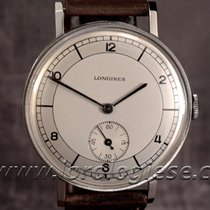Longines Vintage 1930`s Coin Edge 37,2mm Sector Dial Watch...