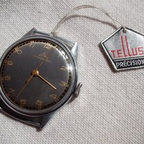 Tellus New Old Stock two-tone dial watch from WW2 era ON SALE