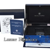 Scalfaro New   Blue Large Lacquered  Wood Box and Papers