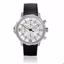 IWC IW376801 Aquatimer Chronograph 44mm Silver Dial Black Rubber
