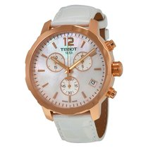 Tissot Quickster Chronograph White Leather Mens Watch T095.417...