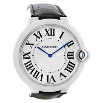 Cartier Ballon Bleu Xl 18k White Gold Mens Watch W6920055 Box...