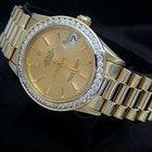 Rolex 18k Gold Datejust President Date Watch W/diamonds