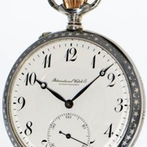 IWC Schaffhausen Niello Silver gent's pocket watch with