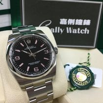 Rolex Cally - Oyster Perpetual 116000 Black Pink Index 369 黑粉紅369