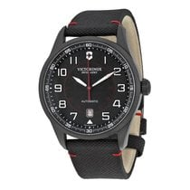 Victorinox Swiss Army Airboss black dial, textile bracelet, date