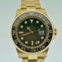 Rolex GMT MASTER II YELLOW GOLD GREEN