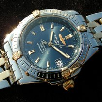 Breitling Callisto With Blue Dial Steel Gold B77346 Esfera...