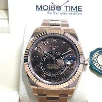 勞力士 (Rolex) Sky-Dweller 18K Everose Gold chocolate choco dial...