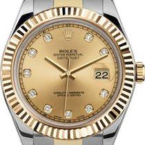 Rolex 41mm  Datejust II 116333 Champaign Diamond