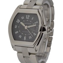 Cartier W62004V3 Roadster Mens - Large - Stainless Steel on...