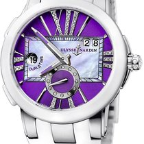 Ulysse Nardin 243-10-3/30-07 Executive Dual Time in Steel with...