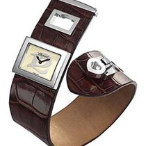 Chopard 208501-3001 Happy Twelve in Steel - on Brown Leather...