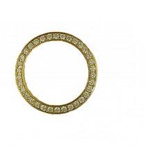 Rolex Zubehör - Lünette 18kt Gelbgold Diamond 1,70ct 31mm