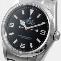 Rolex Mens Stainless Steel Explorer - Black Arabic Dial - 114270