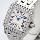 Cartier Santos Demoiselle 18K Solid White Gold Diamonds