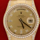 Rolex Mens President Crown Collection Watch Factory Diamonds...