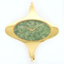 Chopard Yellow Gold Nephrite Jade Bangle Watch 1970's