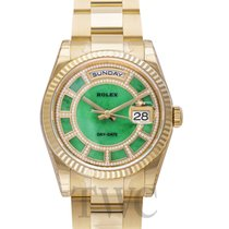Rolex Day-Date Green Jade/18k gold Dia Ø36mm - 118238